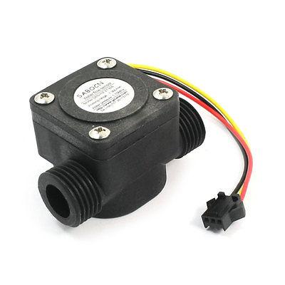 G1/2 Water Flow Hall Effect Sensor Flowmeter Counter 1-30L/min 1.75MpaG1/2 Water Flow Hall Effect Sensor Flowmeter Counter 1-30L/min 1.75Mpa