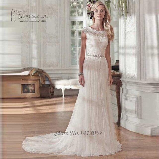 Boho Vintage Wedding Dress Turkey 2016 Lace Bride Dresses A Line Gowns Cap Sleeve Robe