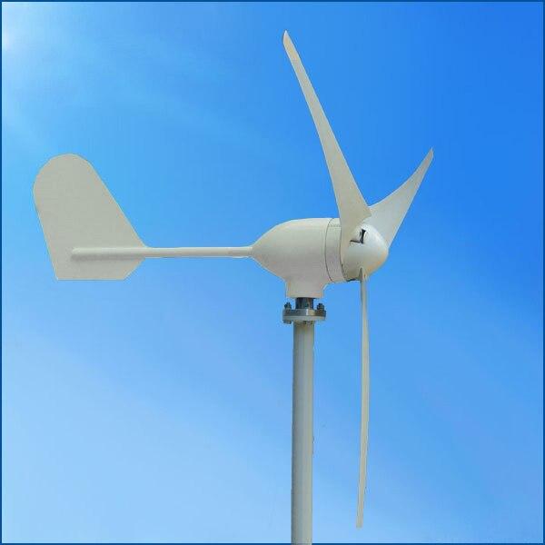 Mini 300w 12v or 24v high-performance wind generator for home use NE-300M 12v or 24v with build in controller high performance wind power generator