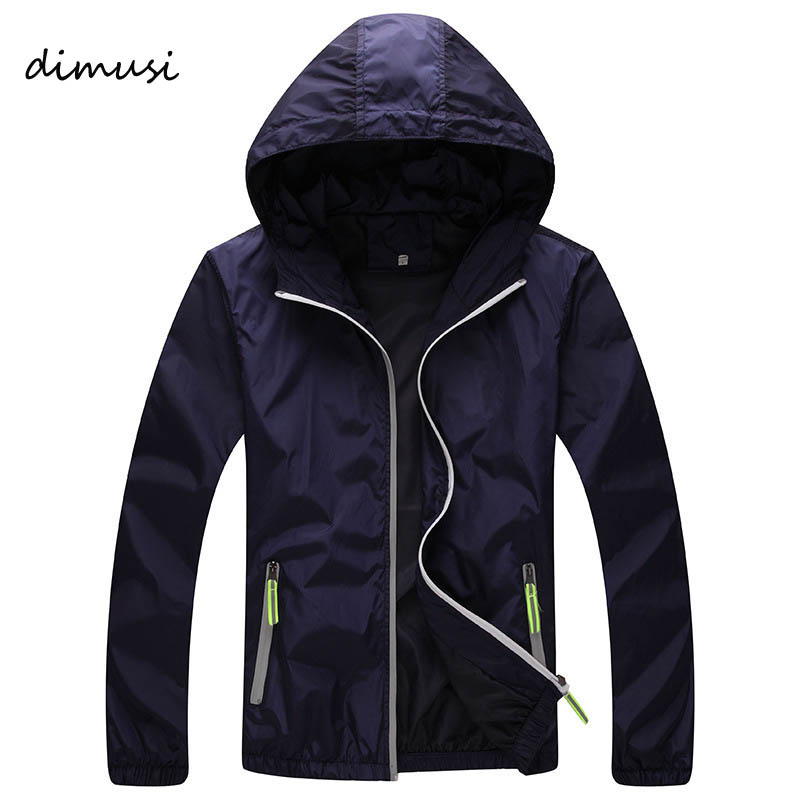 DIMUSI Quick Dry Men Windbreaker Skin Coat Sunscreen Waterproof UV Mens Army Outwear Ultralight Windbreake Jacket 6XL 7XL ,YA590