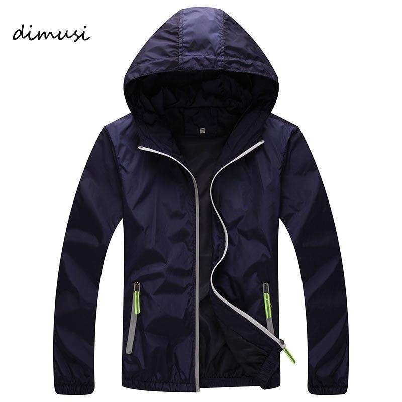 DIMUSI Quick Dry Men Windbreaker Skin Coat Sunscreen Waterproof UV Mens Army Outwear Ultralight Windbreake Jacket 6XL 7XL ,YA590