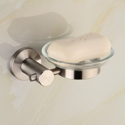 Usherlife 304 Stainless Steel Soap Dish Brushed Holder Glass Dishes Shower  Soap Holders Bathroom Accessories(