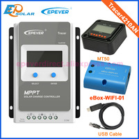 12V/24V MPPT 40A wifi box Solar Panel Battery Charge Regulator with MT50+USB cable Tracer 4210AN