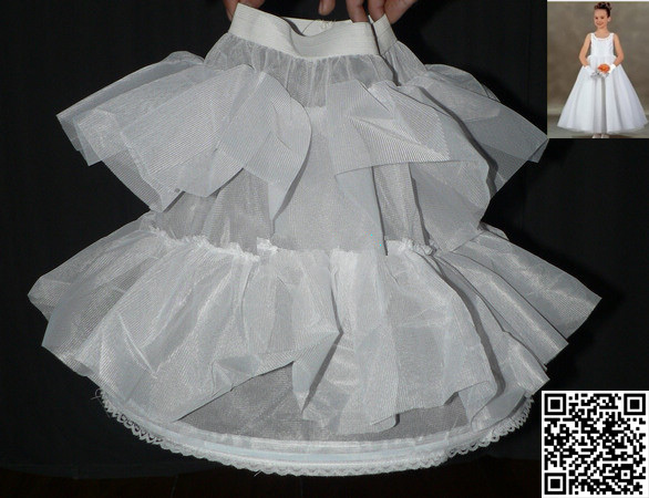 b58f4ffd3366 1-Hoop White flower girl petticoat Slip Underskirt Crinoline Adult wr oo2
