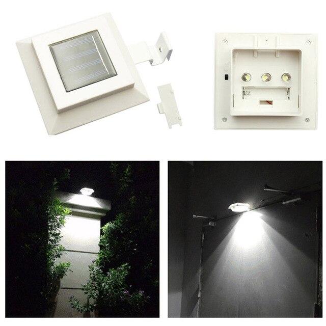 3led Sun Smart Led Solar Light Gutter Standing Utility For Houses Garden Fence Shed