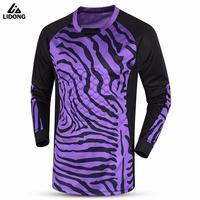 Mens Soccer Goalkeeper Jerseys Foamed Protection Football Training Doorkeeper Long Jerseys Pants Kits Goalie Sportswear Uniforms