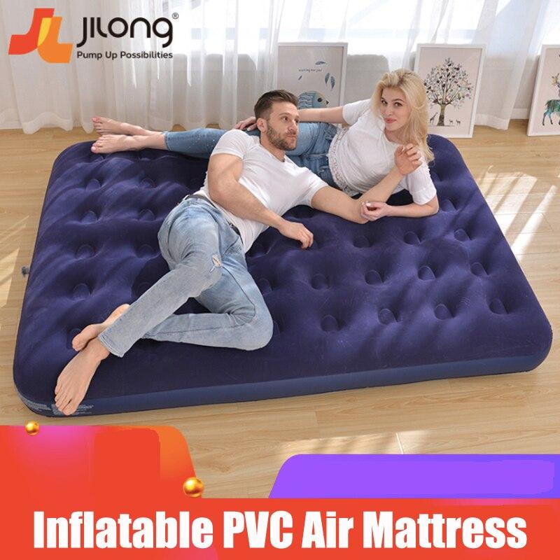 Флокирование удобная надувная воздушная кровать ПВХ портативный воздушный матрас Экологически чистый Открытый Кемпинг оптовая продажа|Надувные матрасы|   | АлиЭкспресс