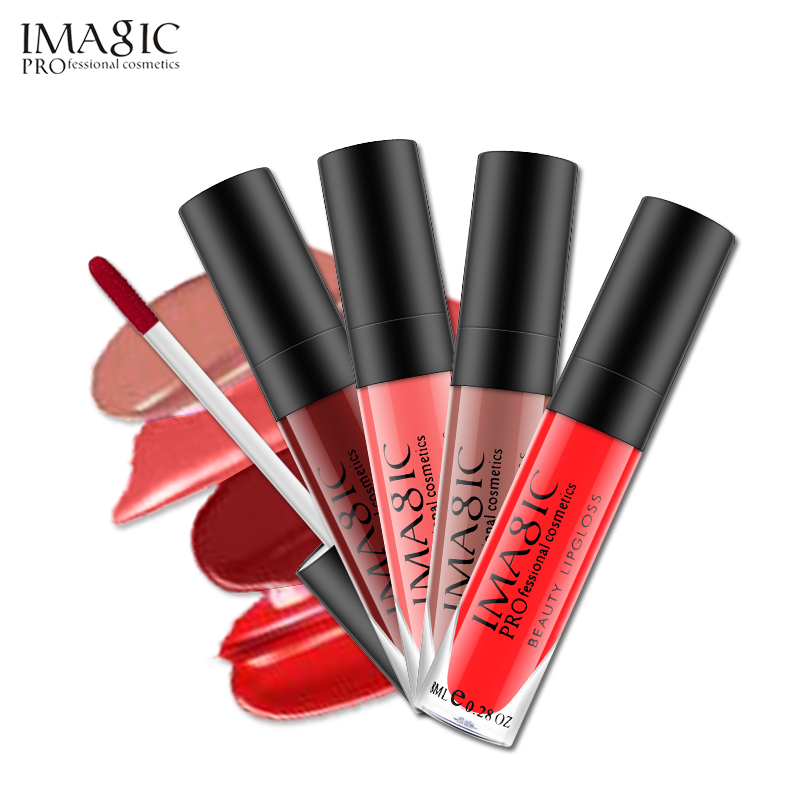 IMAGIC Brand  Lip Tint Lip Makeup Matte Lip Gloss Long Lasting Waterproof Lipgloss Moisturize Lipstick Cosmetic 23 Color