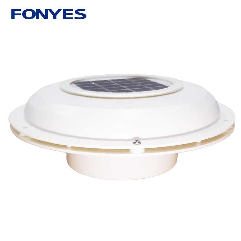 Solar Powered Ventilasi Kipas Ventilasi Loteng untuk Rumah RV Perahu Kafilah Mobil Ventilator Ekstraktor Udara Exhaust Fan