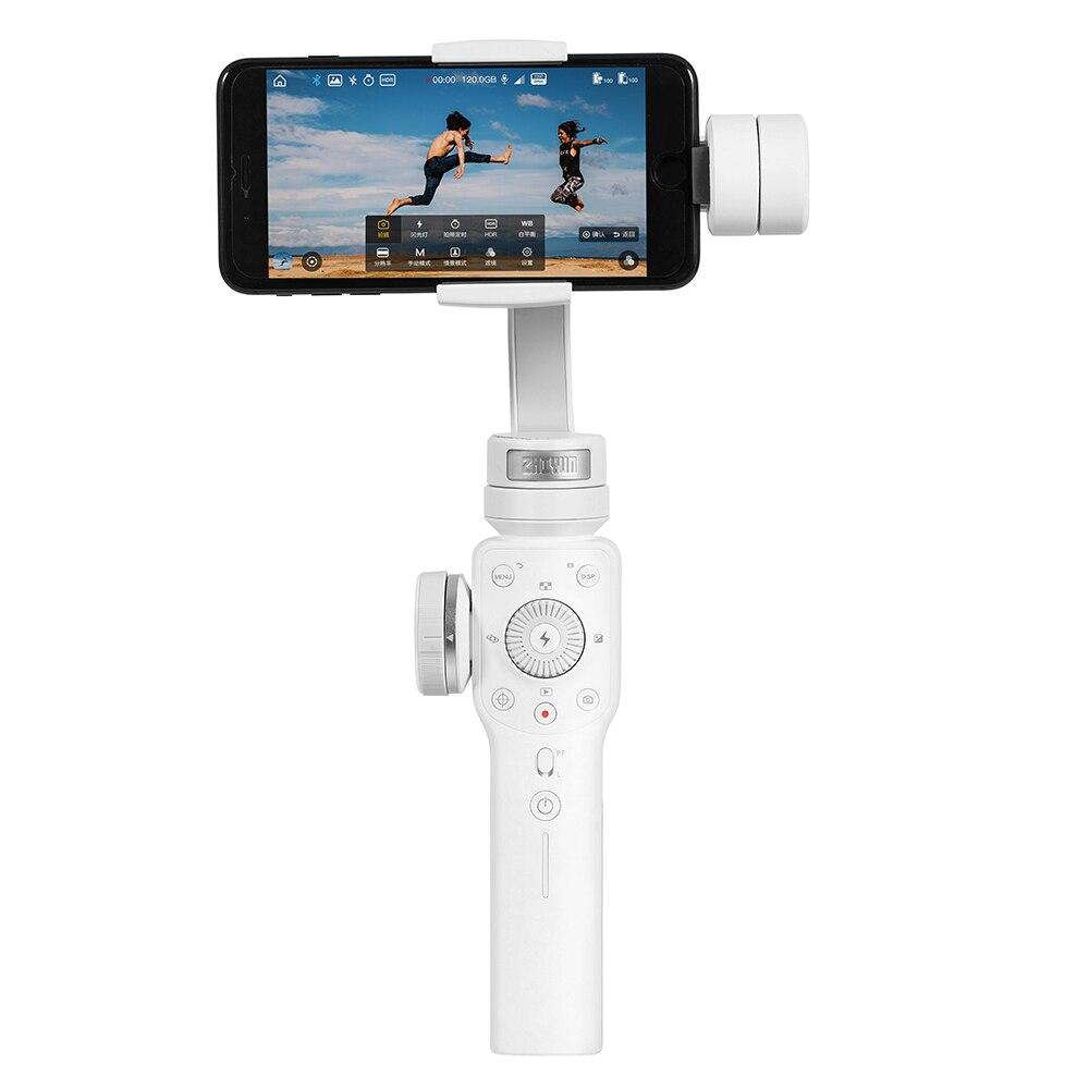 Zhiyun Lisse 4 De Poche stabilisateur de cardan Suivi D'objets L'accent Tirer Pour iPhone X Samsung S9 Huawei P20 Xiaomi 6 Gopro 5 /4/3