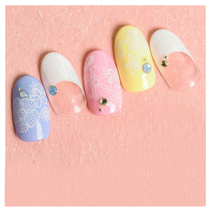 Image 5 - 1 sheet NailMAD Lotus Nail Sticker White Transparent Flower 3D Nail Art Stickers Nail Stickers Nail Decals