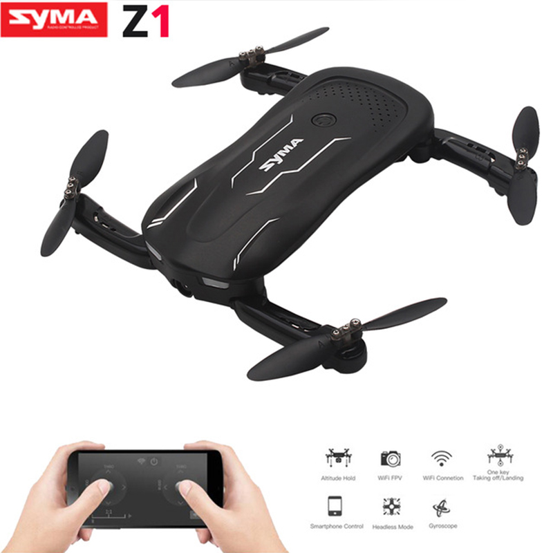 цена на SYMA Z1 RC Drone with HD Camera FPV Real Time Altitude Hold Optical Flow Positioning Mini Foldable RC Quadcopter VS SG600