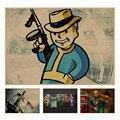 Fallout 3 4 Jogo Poster retro Papel Kraft Retro Bar Café Pintura Decoração de Casa Adesivo de Parede