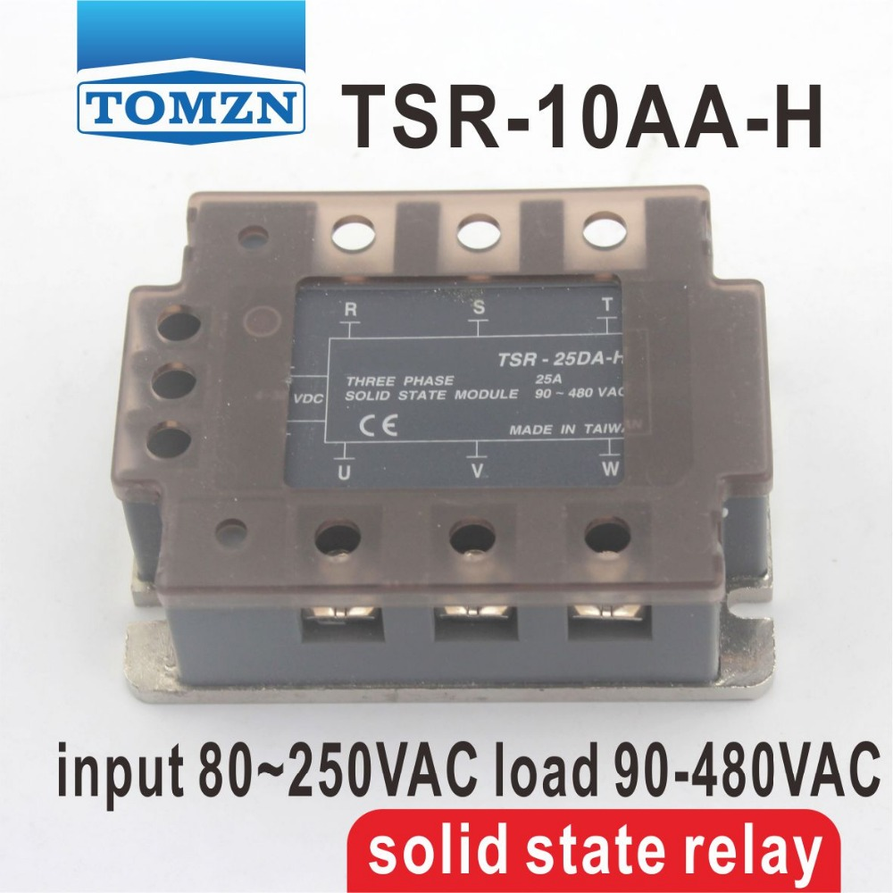 10AA TSR-10AA-H Three-phase High voltage type SSR input 80~250VAC load 90-480VAC single phase AC solid state relay трусы calvin klein underwear calvin klein underwear ca994ewrgc64