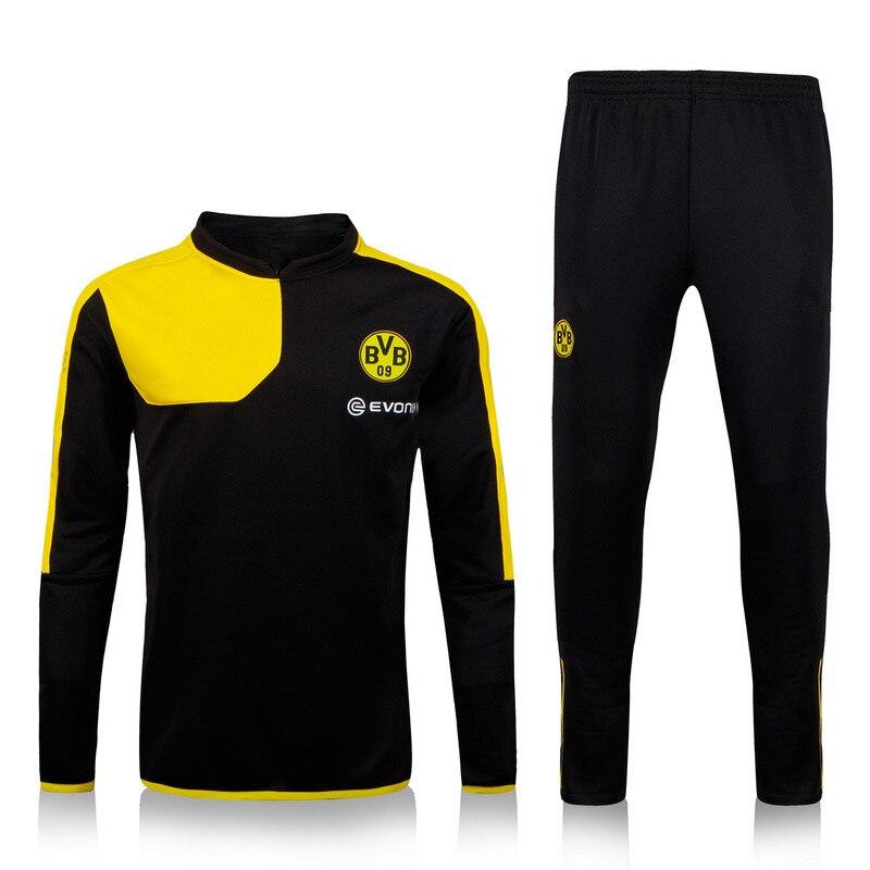 f7287949f 2016 Survetement formação 15 16 treino BVB Borussia Dortmund amarelo  camisola de esportes calças conjuntos em Camisas de futebol de Sports    Entretenimento ...