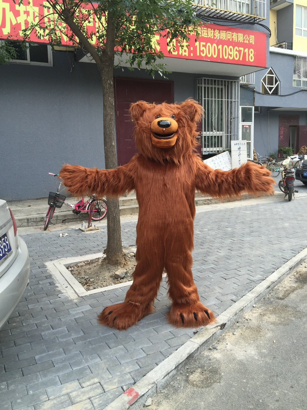 Brown Bear Mascot Adult Character Costume Adult Real Picture Freeshipping Cosplay Free Shipping Christmas Halloween Party