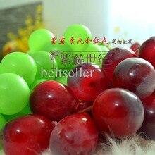 20 см длинные красные черные с зеленым виноградом искусственные букеты имитация фруктов поддельные виноград 60 головок для домашнего ресторана декоративные