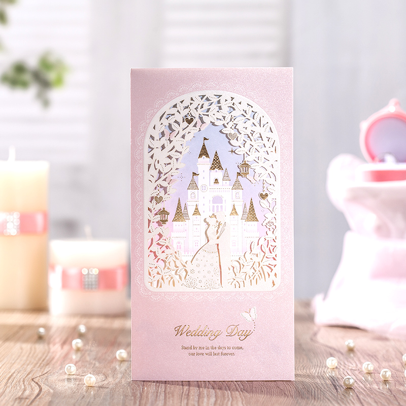 Laser Cut Wedding Invitations Cards With Groow Bridal Castle