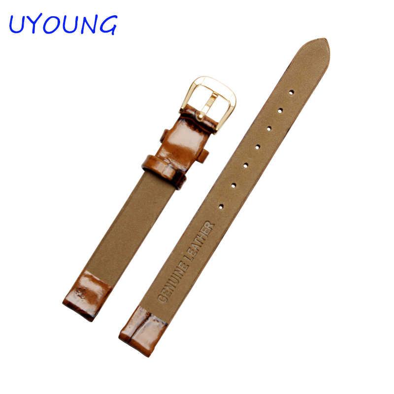 6mm8mm10mm Hoge Kwaliteit Lederen Horlogebanden Strap Retro Kleine size Horloge Vrouwen Accessoires