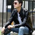Кожаная одежда пальто короткая дизайн мужской моды Случайные тонкий мотоцикл Кожаной Куртке настоящий cuir