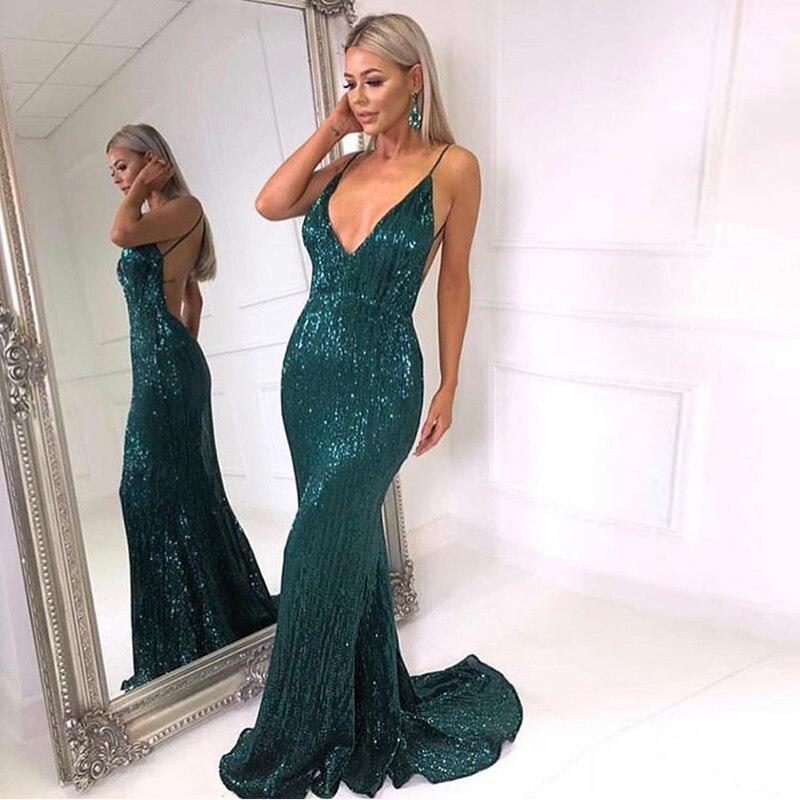 платье летнее женское блестящий зеленое Платье с блестками V-образный вырез длинное платье без спинки длинное платье эластичный без спинки ...