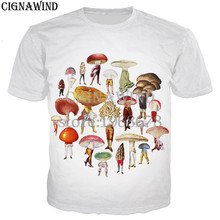 06a6611a207a New funny t shirts men women mushroom collage 3D printed t-shirt Short  sleeve