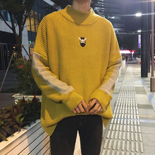 New Arrivals 2017 Winter Fashion Giraffe Knitwear Patterns Wool Sweater Warm Thicken Multicolor Masculino Pullover Striped Men