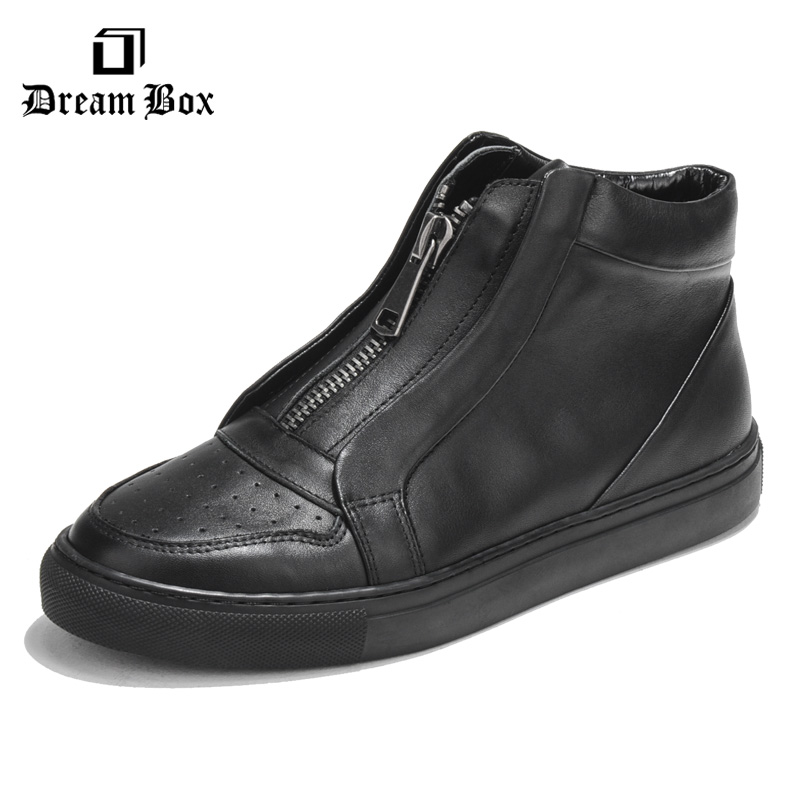 Simple fashion shoes casual shoes zipper high fashion leather in winter 2017 help 2017 high quaitily casual fashion 024