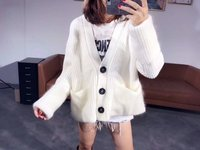 2017 NEW STYLE WINTER SINGLE BREASTED LEISURE CASHMERE WOOL CARDIGAN SWEATER COAT WOMEN
