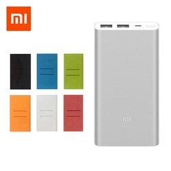 Оригинальный Xiaomi Mi Мощность банк 2 10000 мАч внешний Батарея портативный charginQuick Charge 10000 мАч Мощность банк поддерживает 18 Вт зарядки