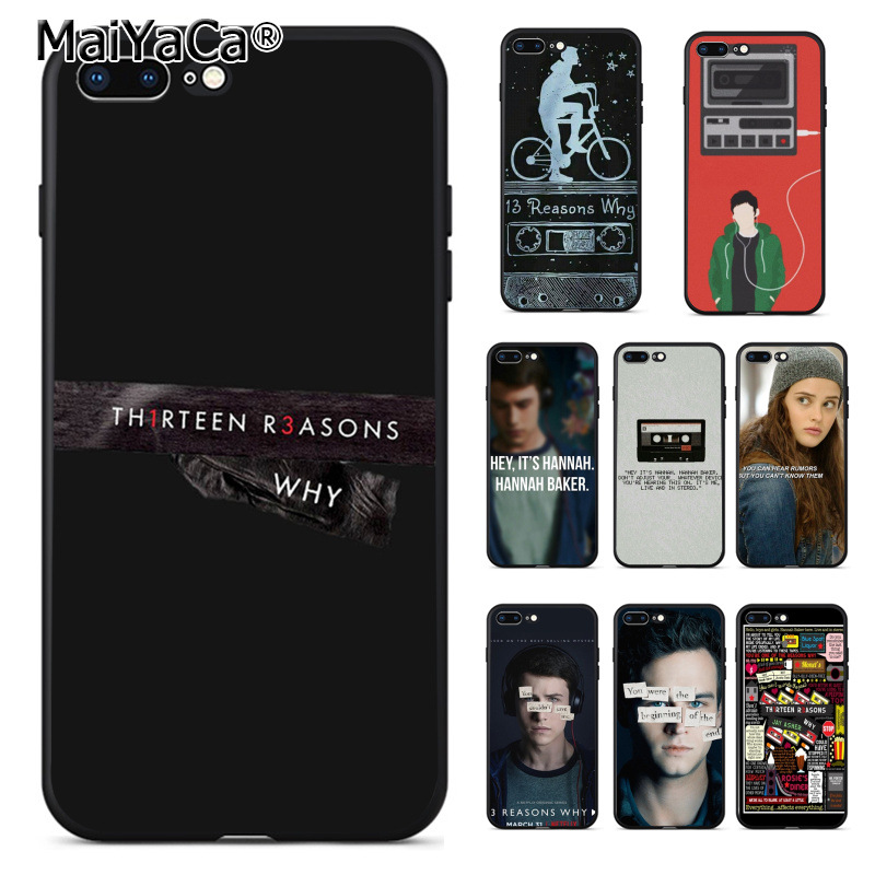 MaiYaCa Thirteen <font><b>13</b></font> <font><b>Reasons</b></font> <font><b>Why</b></font> Quotes Coque Shell Phone <font><b>Case</b></font> for Apple <font><b>iPhone</b></font> 8 7 6 6S Plus X 5 5S SE 5C Cover