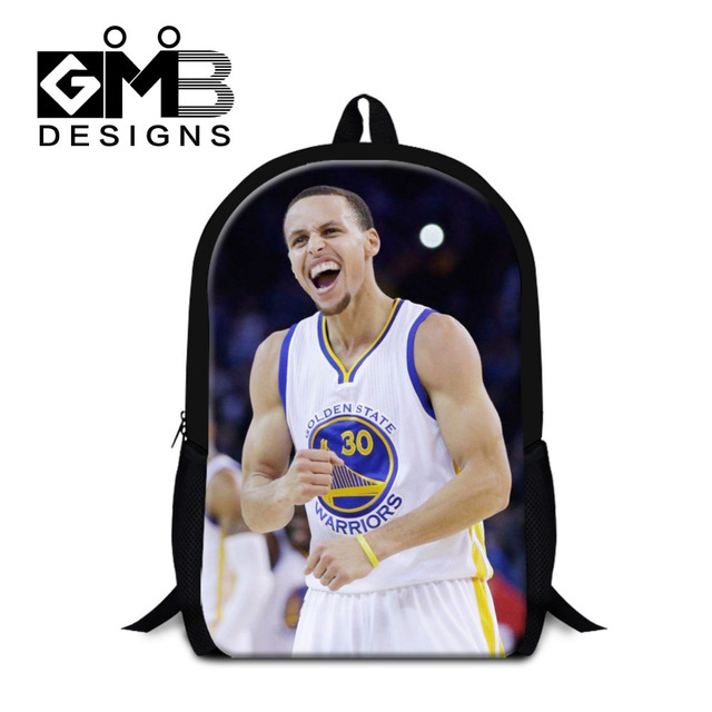 b24ca38e4a1 2016 Fashion Stephen Curry Printing Backpack Basketball School Bags For  Teenagers Boys Mens Travel Bag Mochila Escolar Feminina
