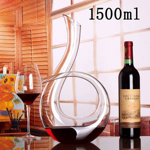 Six Shaped Crystal Glass Wine Decanter Wine Dispenser Led-free Crystal Red Wine Container Premium Handmade Wine Decanter set Bar