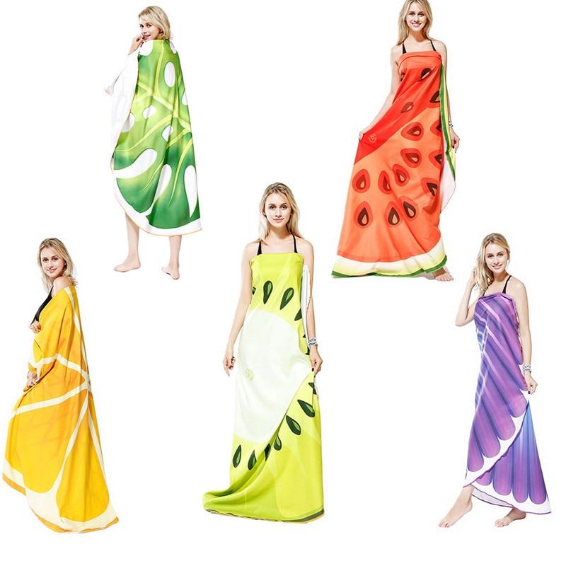 Fruit Shell Swimming Beach Towel 180*180CM Microfiber Fleece Quick Dry Absorbent High Quality Beach Mat Blanket Travel Towel