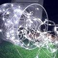 2 м/5 м/10 м светодиодная медная проволока  световая гирлянда  водонепроницаемое праздничное освещение для сказочной гирлянды  Рождественска...