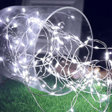 2M 5M 10M LED Copper Wire Light String Waterproof Holiday Lighting For Fairy Garland Christmas Tree Wedding Party Decoration cheap Feimefeiyou 1 year 1-5m Plastic None Wedge living room Dry Battery 2m 20leds 5m 50leds 10m 100leds White Blue Multi Pink