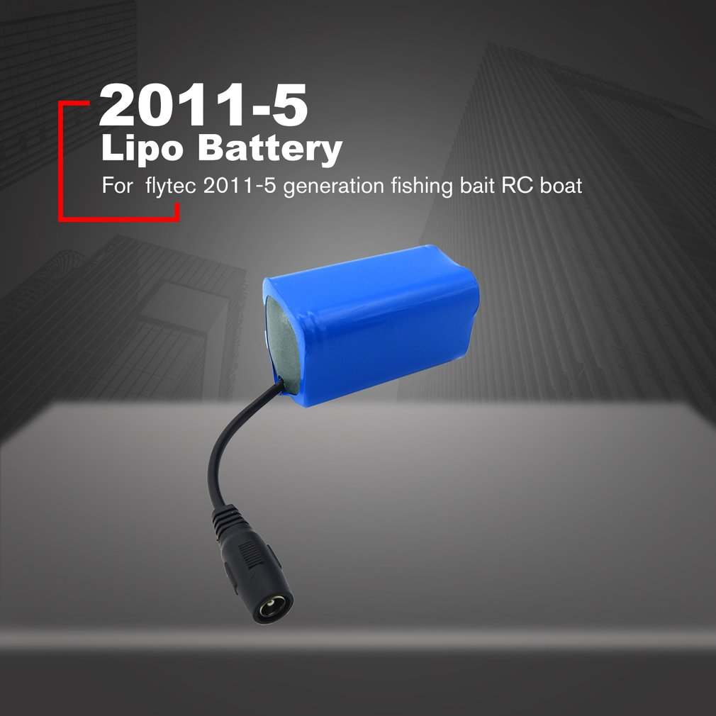 Flytec 38.48Wh 5200mAh 7.4V Lipo Battery for 2011-5 Generation Fishing Bait Rc Boat Replacement Spare Parts Accessory