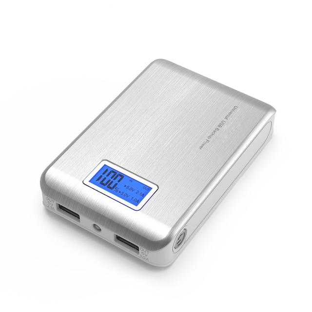 Новый Мобильный Банк Питания 12000 мАч Dual USB ЖК-Дисплей Внешняя Батарея Портативное Зарядное Powerbank для всех телефонов