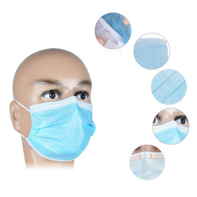 40 Pcs Disposable Anti-bacteria Against Dust Mask Respirator For Medical Dental Treatment And First Aid Kit Supplies