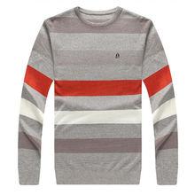2017 new arrival Men's Striped autumn winter O-Neck sweater super large high qualtiy fashion casual plus