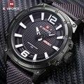 Luxo Marca Naviforce Militar Homens Relógios de Quartzo Analógico Moda Nylon Relógio Masculino Sports Relógios Relógio Do Exército Relogios masculinos
