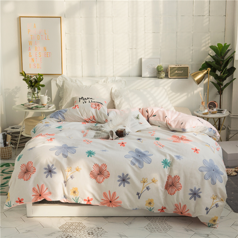 New Beauty Floral Pattern Duvet Cover 100 Cotton Quilt Cover Twin
