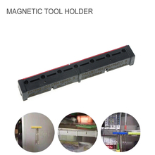 Magnetic Organizer Storage Holder Rack Shelf with Adhesive for Cutting Knife Tweezers Screwdriver Bits collector