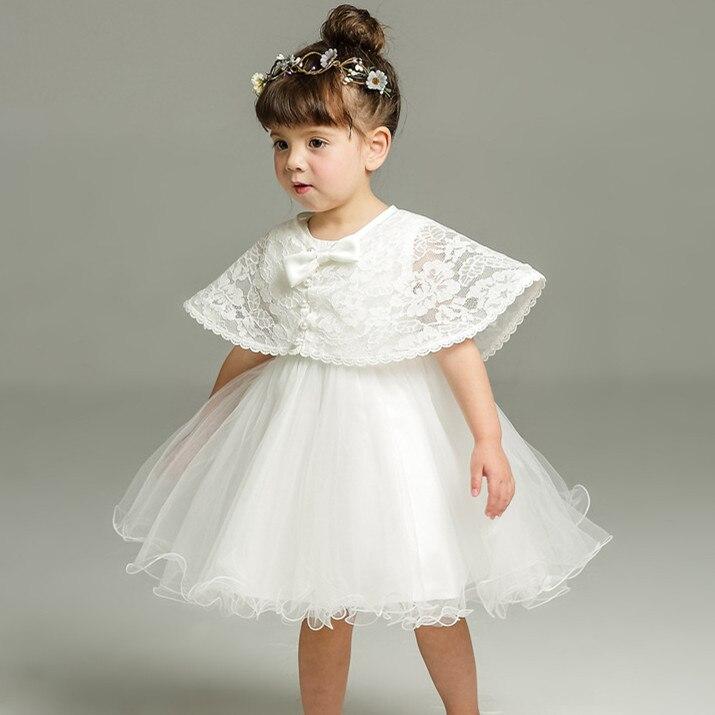 Latest set of one year old baby girl baptism dress princess wedding vestidos tutu 2016 baby girl baptism clothes 3pcs ABF164701 girl