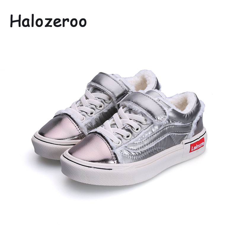 Halozeroo New Winter Children Sport Sneakers Kid Warm Casual Shoes Baby Girl Fur Fashion Sneakers Boy Black Soft Shoes TrainerHalozeroo New Winter Children Sport Sneakers Kid Warm Casual Shoes Baby Girl Fur Fashion Sneakers Boy Black Soft Shoes Trainer