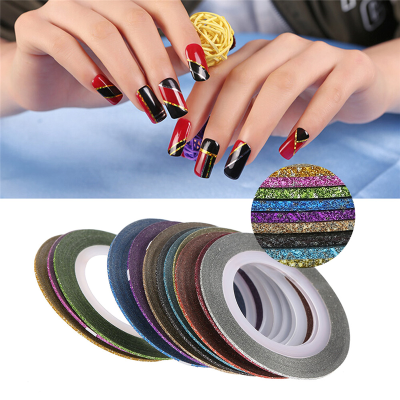 Striping Tape Line Nail Art: 12Pcs 12 Mixed Colors Rolls Striping Tape Line Nail Art
