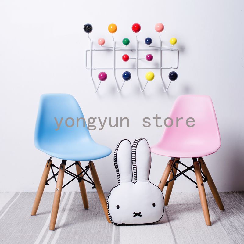 Children wooden base baby kids minimalist modern Childrens Chair plastic and Wood Legs dining chair modern & Children side wooden base baby chair Minimalist modern baby dining ...