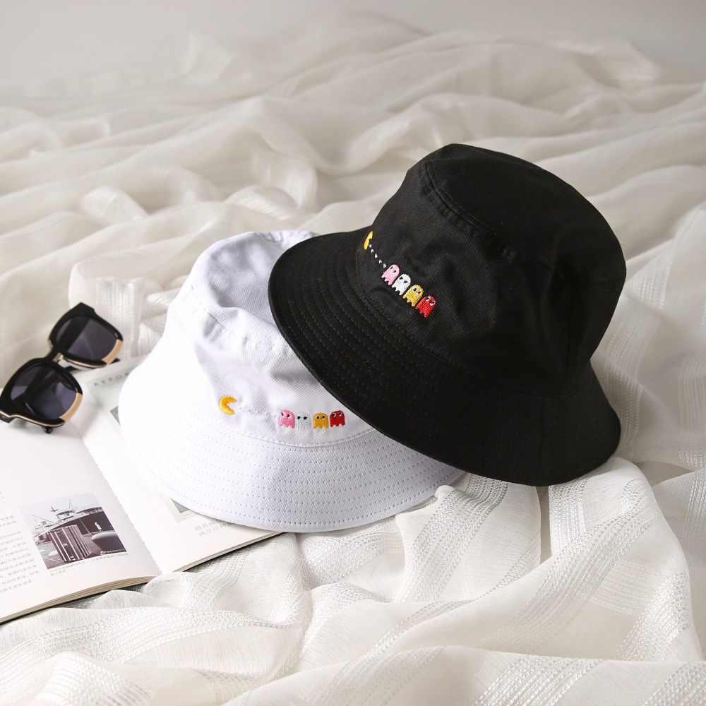 Chapeau seau pour hommes femmes   Casquette Bob, Hip Hop Gorros broderie Pac, casquette d'été unisexe en coton, casquette de plage, pêche au soleil