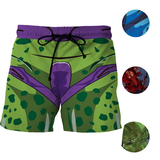 1a451356db0f1 Cosplay Dragon Ball King Piccolo Sports Short Pants Men Mesh Trunks Surf  Beach Shorts Fitness Outwear Trunks Swimwears Quick Dry