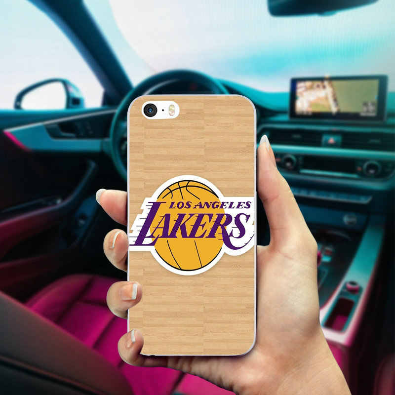 09ba2d6154bf90 ... Angeles Lakers Basketball Team Logo Soft TPU Silicon Phone Cases for iPhone  6 6S 7 8 ...